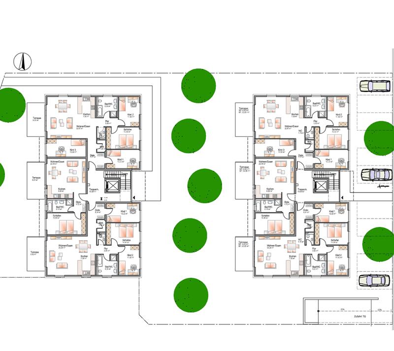 mehrfamilienh user aufzug tiefgarage dachterrassen. Black Bedroom Furniture Sets. Home Design Ideas