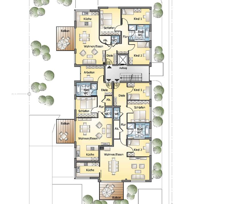 mehrfamilienhaus tiefgarage aufzug dachterrassen penthouse. Black Bedroom Furniture Sets. Home Design Ideas